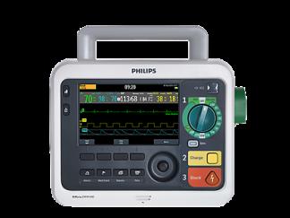 Philips Efficia DFM100 Defibrillator cw ECG and Trolley