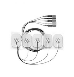 Adult disposable Radiolucent electrode 5 lead set AAMI