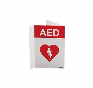 Philips AED Wall Sign red